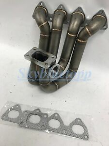 Plm H22 Top Mount T3 Turbo Manifold Acura Honda Civic Integra Prelude H22a F20b