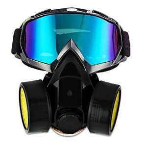 Dual Anti dust Spray Paint Industrial Chemical Gas Respirator Mask