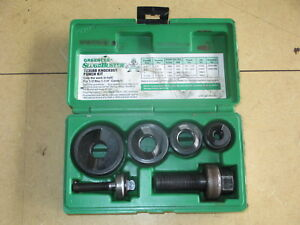 Greenlee Slug Buster Knockout Punch Set 7235bb 1 2 1 1 4 Conduit Exc