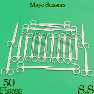 50 Mayo Dissecting Scissors Straight 7 Surgical Instruments