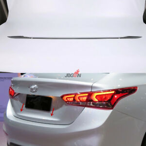 Rear Trunk Strip Lip Cover For Hyundai Accent 2018 Hyundai Verna Solaris Abs
