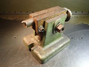 12 Adjustable Lathe Dividing Head Or Rotary Table Tailstock Footstock Used Good