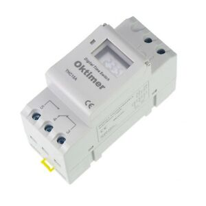 24vdc 16a Din Rail Digital Programmable Timer Time Relay