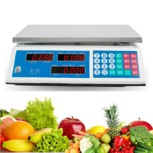 Ca Ship electronic Digital 66lb Kitchen Scale Commercial Shop Food Postal Weight