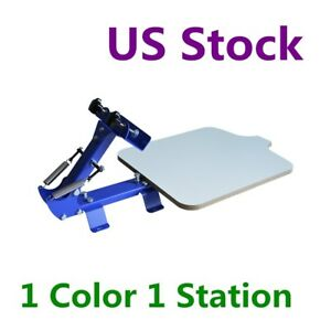 Us Stock High Quality 1 Color 1 Station T shirt Silk Screen Printing Machine Diy