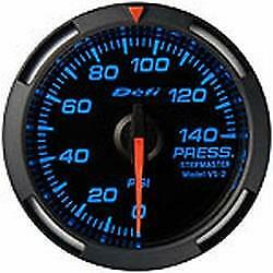 Defi Blue Racer 52mm Pressure Fuel Or Oil Gauge Us