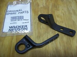 Wacker Wp1550 Wp1540 Plate Compactor Tamper Wheel Kit Bracket Pair 0161041