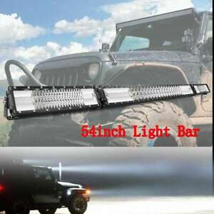 32inch 1890w Curved Cree Led Light Bar Combo For Jeep Dodge Amber White Lamps 30