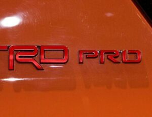 Premium Vinyl Decal Inlays For Trd Pro Emblems 4runner And Tacoma