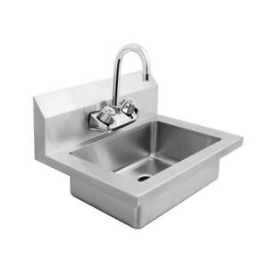 Atosa Mrs hs 18 Mixrite 18 Stainless Steel Wall Mounted Hand Sink