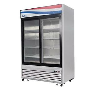 Atosa Mcf8709 45 Cu Ft Double Section Refrigerated Merchandiser