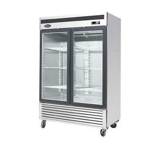 Atosa Mcf8707 47 1 Cu Ft Double Section Refrigerated Merchandiser
