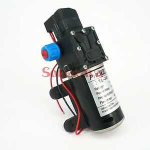 T yb Dc 12v 80w Self priming Booster Diaphragm Pump Automatic Switch 360l h