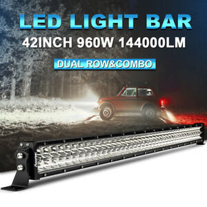Combo Curved 32 Inch Osram Led Light Bar 720w Offroad Dual Color Foglight Amber
