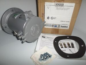 new In Box Appleton Adr20034 200 amp Pin sleeve Receptacle 200a 600v 3w 4p
