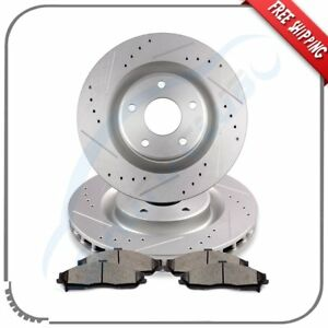 Front Brake Rotors Ceramic Pads For 2005 2006 2007 2008 2009 2013 Chevy Corvette