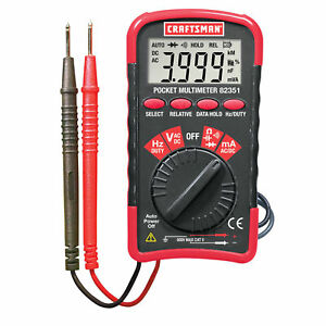 Craftsman Mini Pocket Multimeter With Auto Ranging Free Shipping New