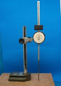 Starrett 6 Range Dial Indicator 656 6041 With Heavy Transfer Stand