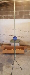 Antique Lightning Rod With Tripod Stand And Blue Glass Ball
