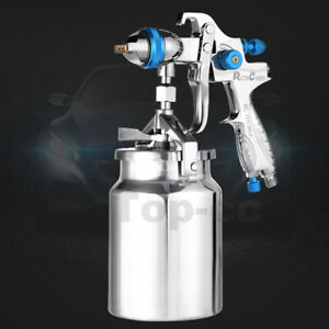 Suction Feed Hvlp Spray Gun Auto Car Paint 1 7mm Nozzle 1000ml Pot Repair Kit