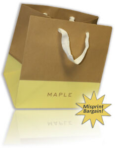 Set Of 200 Retail Merchandise Clothing Bags Brown Take Out Bags Wholesale Bulk