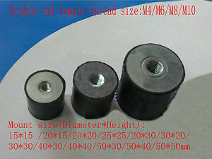 Double End Female Thread M4 6 8 10 Rubber Damper Rubber Multi Mount Size