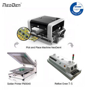 Smd Pick And Place Machine Neoden4 reflow Oven solder Printer 1 Free Stencil