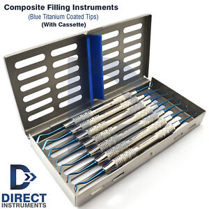 New Titanium Dental Composite Filling Instruments Restorative Spatula Cassette