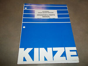 Kinze 50 Series Wagon Grain Cart Operator Parts Manual loose Leaf Only