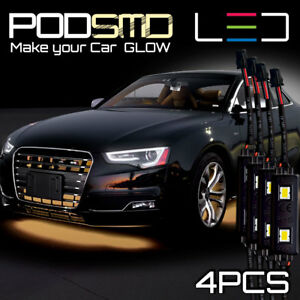 Warm White Led Underbody Glow Under Car Rock Neon Light For Nissan Skyline Gt