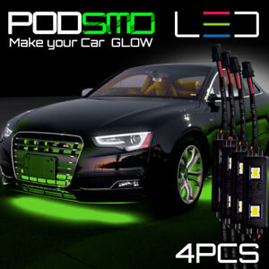 Green Led Underbody Glow Under Car Accent Rock Neon Light For Nissan Skyline Gts