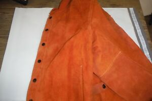 Revco Split Cowhide Leather Welding Jacket Size Medium