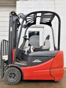 Linde Rx50 16 3000lb Electric Cushion 3 Wheeled Forklift Lifttruck