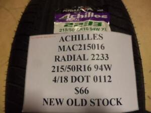 1 Achilles Radial 2233 215 50 16 94w Brand New Old Stock Tire Mac215016 Q8