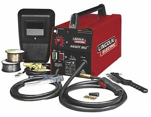 88 Amp Mig Welder Wire Feed W Gun Lincoln Electric K2185 1 Hand Shield Gas Regu