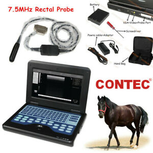 Digital Veterinary Ultrasound Scanner Portable Laptop Machine 7 5m Rectal Probe