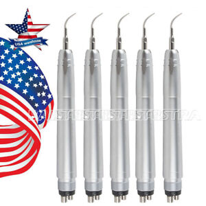 Us 5 X Air Scaler Scaling Handpiece For Dental Nsk 4 Holes With 3 Tips g1 g2 p1