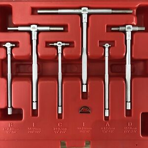 Mac Tools 6 Pc Telescoping Gauge Set Tgs6 Complete In Case Euc