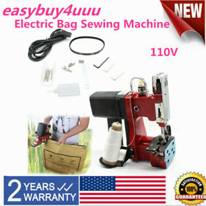 Industrial Electric Bag Stitching Closer Seal Sewing Machine Portable us Plug