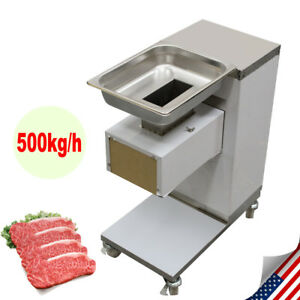 Stainless Commercial Meat Slicer Meat Cutting Machine Cutter Tool Restaurant Us
