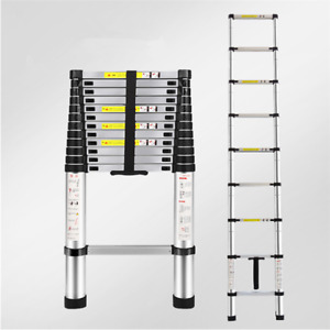 Heavy Duty Telescopic Extension Ladder Giant Aluminum Multi Purpose 12 5 Feet