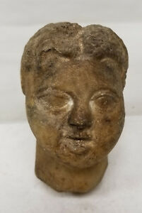 Antique Greek Roman Greco Roman Hellenistic Carved Marble Head Boy