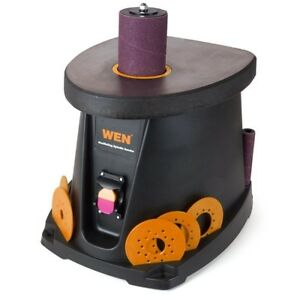Oscillating Spindle Sander On board Sleeves Storage Woodworking Bench Power Tool