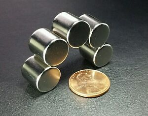 50 Neodymium N52 Cylinder Magnets Super Strong Rare Earth Disc 1 2 X 1 2