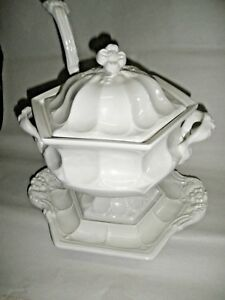 Vintage Red Cliff Magnificent Ironstone Serving Tureen Tray