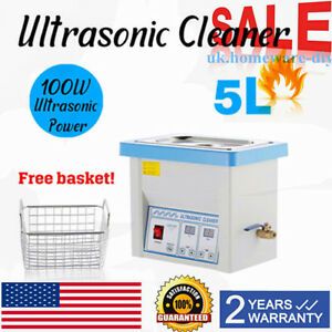 Industry Heated Timer Digital Ultrasonic Cleaner 5l Basket Cleaning Equipment