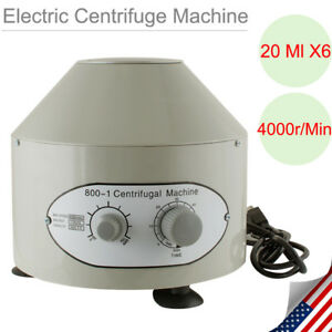 New 800 1 110v Electric Centrifuge Machine 4000rpm Lab Medical Practice