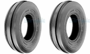 Two 4 00 12 4 00x12 400 12 Cub Farmall Tri 3 rib Tractor Tires 4ply Tubeless
