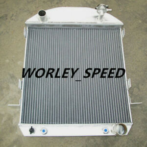 Aluminum Radiator For Model T Chevy Bucket Ford Grill Shells 1924 1927 Hotrod