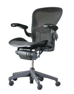 Fully Adjustable Arms Herman Miller Aeron Chair Size B W Lumbar